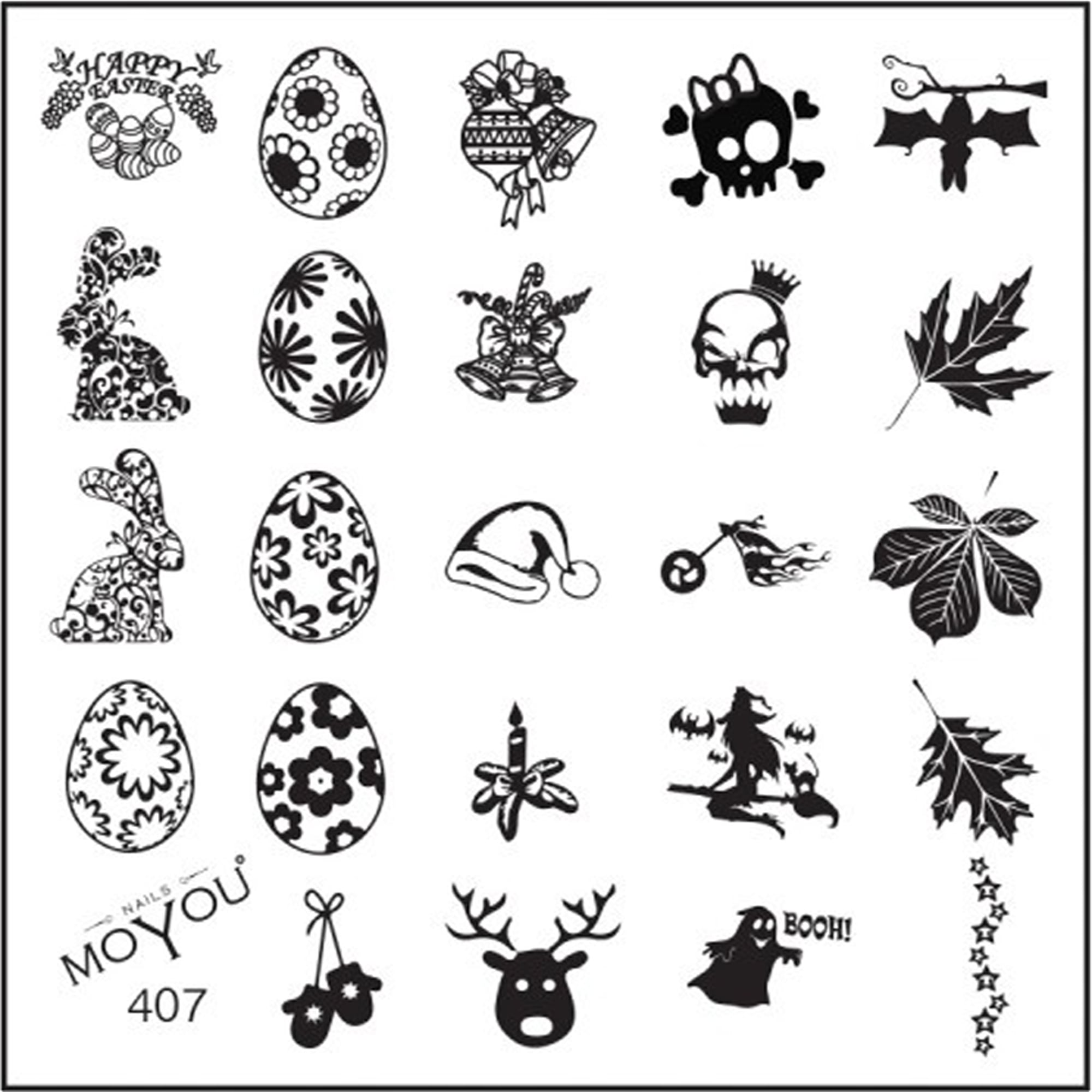 Moyou Stamping Nail Art Image Plate Multi Festival 407