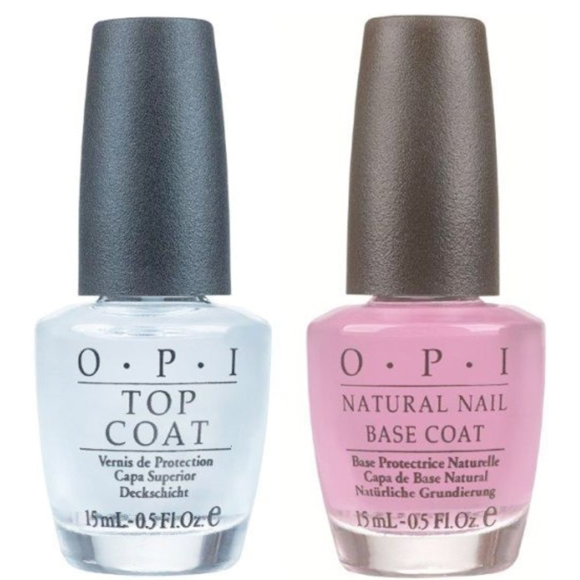 OPI Nail Polish Duo - Natural Nail Top Coat & Basecoat x2 15ml